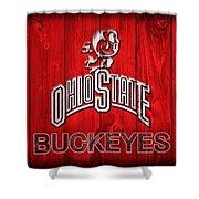 Ohio State Buckeyes Barn Door Vignette Shower Curtain