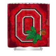 Ohio State Buckeyes On Canvas Shower Curtain