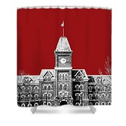 Ohio State University - Dark Red Shower Curtain