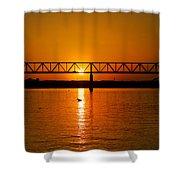 Ohio Sunset Shower Curtain