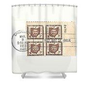 Ohio Three Cent Stamp Plate Block Shower Curtain