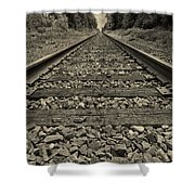 Ohio Train Tracks Shower Curtain