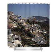 Oia By Day Shower Curtain