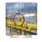 Oil And Gas Shower Curtain