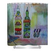 Oil And Vinegar Shower Curtain