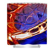 Oil And Water 15 Shower Curtain by Sarah Loft