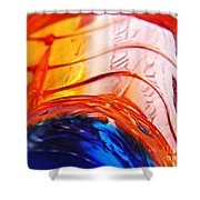 Oil And Water 26 Shower Curtain by Sarah Loft