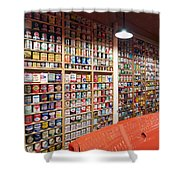 Oil Can Collection Shower Curtain