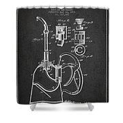 Oil Can Patent From 1903 - Dark Shower Curtain