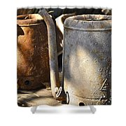 Oil Cans Picking Shower Curtain