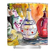 Oil Dispensers From Taormina Shower Curtain