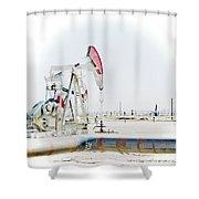 Oil Field Shower Curtain