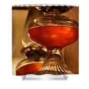 Oil Lamp In Red Shower Curtain