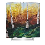 Oil Msc 005  Shower Curtain