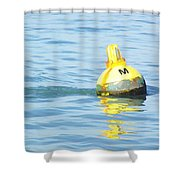 Oil Painting - A Floating Marker Shower Curtain