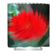 Oil Painting - A Spinning Effect To A Flower Shower Curtain
