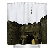 Oil Painting - British Flag Over A Doorway Inside The Stirling Castle Shower Curtain