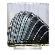Oil Painting - One Of The Conservatories Of The Gardens By The Bay In Singapore Shower Curtain