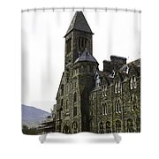 Oil Painting - Repair Of The Benedictine Abbey At Fort Augustus Now Apartments Shower Curtain