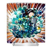 Oil Painting - Shine All Around Shower Curtain