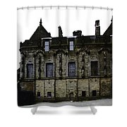 Oil Painting - The Royal Palace Inside Stirling Castle In Scotland Shower Curtain