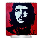 Original Oil Painting Art -ernesto Guevara#16-2-5-30 Shower Curtain
