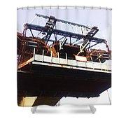 Oil Painting - Bridge As A Part Of Construction Shower Curtain
