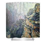 Oil Painting - Majestic Canyon Shower Curtain