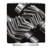 Oil Pump Gears Shower Curtain