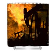 Oil Pumps Shower Curtain