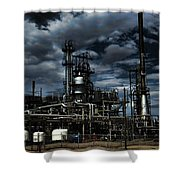 Oil Refinery Sinclair Wyoming Shower Curtain