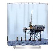 Oil Rig In The Gulf Shower Curtain