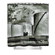 Oil Storage Tanks 1 Shower Curtain