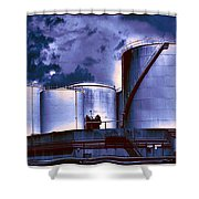 Oil Storage Tanks 2 Shower Curtain