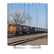 Bnsf Oil Train In Dilworth Minnesota Shower Curtain