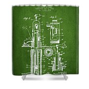 Oil Well Pump Patent From 1912 - Green Shower Curtain
