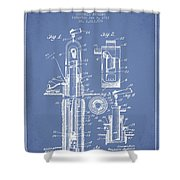 Oil Well Pump Patent From 1912 - Light Blue Shower Curtain
