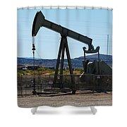 Oil Well  Pumper Shower Curtain