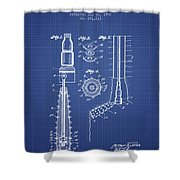 Oil Well Reamer Patent From 1924 - Blueprint Shower Curtain