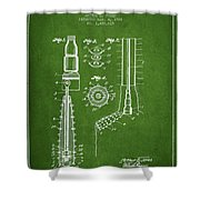 Oil Well Reamer Patent From 1924 - Green Shower Curtain