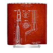 Oil Well Reamer Patent From 1924 - Red Shower Curtain