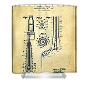 Oil Well Reamer Patent From 1924 - Vintage Shower Curtain