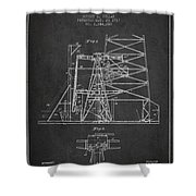 Oil Well Rig Patent From 1917- Dark Shower Curtain
