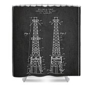 Oil Well Rig Patent From 1927 - Dark Shower Curtain