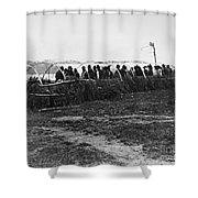 Ojibwa Lodge, 1909 Shower Curtain