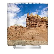 Ojitos De Los Gatos Panorama - New Mexico Shower Curtain