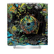 Eye In A Cave Shower Curtain