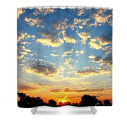 Okavango Delta Sunset Shower Curtain