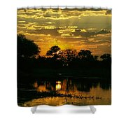 Okavango Sunset Shower Curtain
