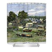 Oklahoma City, 1889 Shower Curtain